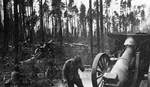 Finnish Army 152 H/17 howitzers in action, Rukajärvi, Finland, Aug 1944