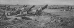 US 155 mm Howitzer Carriage M1917 (Schneider) howitzers near Soissons, France, 18 Jul 1918