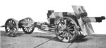 US Army 155 mm Howitzer Carriage M1917 or M1918 howitzer in traveling position, date unknown