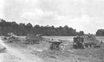 US 75mm guns on exercise, Tennessee, United States, Jun 1941