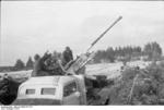 German truck-mounted 3.7 cm anti-aircraft gun in the Soviet Union, 1943, photo 1 of 2