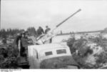 German truck-mounted 3.7 cm anti-aircraft gun in the Soviet Union, 1943, photo 2 of 2