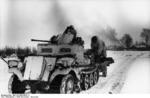 German SdKfz 10/4 halftrack vehicle with 2-cm FlaK 38 gun, somewhere in the Soviet Union, Nov-Dec 1943