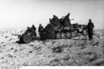 German troops with SdKfz 10 halftrack vehicle and 2-cm FlaK 38 gun, North Africa, Apr-May 1941
