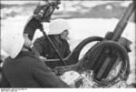 German soldiers manning a 2 cm FlaK 38 anti-aircraft gun, Norway or Finland, 1942-1943
