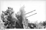 German crew with a 2 cm Flakvierling 38 anti-aircraft gun, Italy, 1943