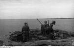 German anti-aircraft outpost on the coast of Norway or Finland, 1943; note 2 cm FlaK 38 anti-aircraft gun