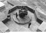 German Flakvierling 38 anti-aircraft gun mounted on top of a flak tower, Germany, 1943, photo 1 of 2