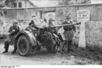 German FlaK 30 gun and its crew in Drocourt, Seine-et-Oise, France, Aug 1944, photo 1 of 2