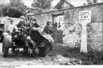 German FlaK 30 gun and its crew in Drocourt, Seine-et-Oise, France, Aug 1944, photo 2 of 2