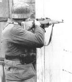 German soldier with a Gewehr 43 semi-automatic rifle, date unknown