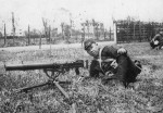 Japanese naval infantryman with Type 92 machine gun, date unknown