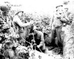 US 504th Parachute Infantry Regiment mortar team in Italy with M1 mortar, Italy, Sep 1943