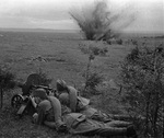 Machine gunners of Soviet 20th Army on the Dnieper River near Dorogobuzh, Russia, 1 Sep 1941