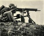 Chinese troops with a Type 24 machine gun, date unknown
