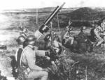 Chinese troops with a Type 24 machine gun as an anti-aircraft weapon, date unknown
