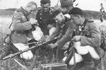 German troops training with a MG34 machine gun, 1939