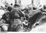 German MG42 machine gun crew fighting in Monte Cassino, Italy, Apr 1944, photo 1 of 2