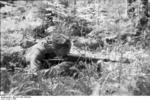 German 1st Cossack Cavalry Division soldier with MP 40 submachine gun, 1943