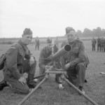 Northover Projector and crew of E Company, 20th (Sevenoaks) Home Guard at Chelsfield, Kent, England, United Kingdom, Jul 1941