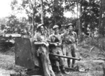2 pounder gun of 4th Anti-Tank Regiment of Australian 8th Division and its crew near Muar, Malaya, 18 Jan 1942