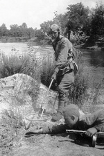 Soviet sappers disarming a mine, 1941-1945
