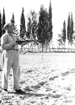 Man with Sten gun, Palestine, 1944-1947