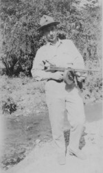 US Marine Joseph McCarty with a Thompson submachine gun, circa 1930