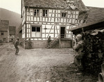 US 7th Army troops checking a house for snipers, western Germany, 16 Dec 1944