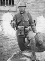 Japanese Army officer with Type 26 revolver, date unknown