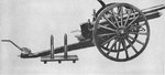 Side drawing of Japanese Type 38 75 mm field gun, as seen in US War Department publication TM-E 30-480 dated Sep 1944