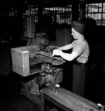 Alice Minge at the John Inglis and Company factory for Vickers machine guns in Toronto, Canada, 1940s